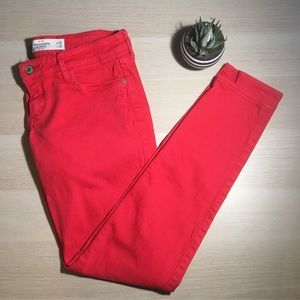 ✅SALE✅ Abercrombie & Fitch Red Skinny Jeans